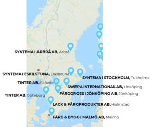 Nor-Maalin teollisuusmaalit ovat saatavilla nyt yhdeksältä jälleenmyyjältä Ruotsissa